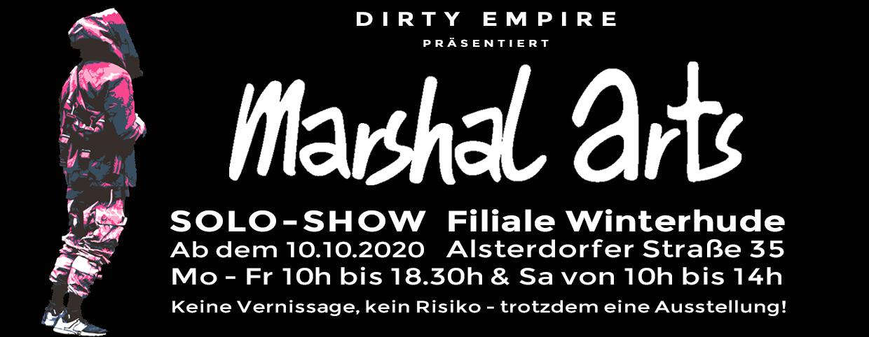 Marshal Arts Solo-Ausstellung in Hamburg Winterhude